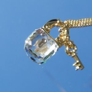 Swarovski Lock and key Necklace SALE